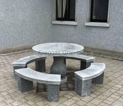 Round Table Granite Bay Bench Granite Garden Benches Granite Garden Furniture Reviews