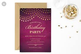 elegant 50th birthday party invite invitation templates
