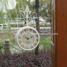 waterproof and multifunctional double sided garden wall clock with