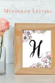 Monogramed Letters The 25 Best Free Printable Monogram Letters Ideas On Pinterest
