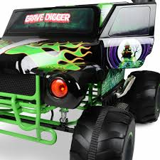 grave digger monster truck power wheels monster jam grave digger 24 volt battery powered ride on walmart com