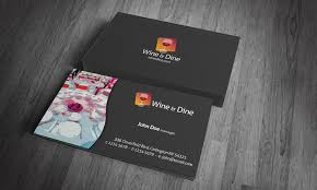 catering business card template free download cr00002