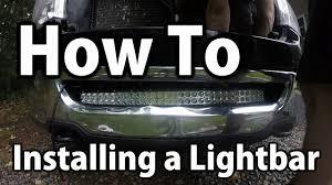 Installing Light Bar How To Installing A Cheap Ebay Cree Light Bar Youtube