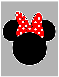 minnie mickey mouse outline svg file
