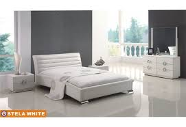 Modern Furniture Stores In Nj by Furniplanet Com Buy White Stylish Eco Leather Glossy Wood Stela