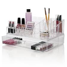 amazon com premium quality clear plastic cosmetic and makeup