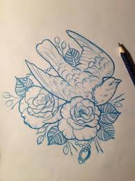 dove amp roses tattoo design drawing by mr curtis at tribalbodyart