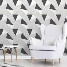 black and silver geometric wallpaper by fine decor fd41994