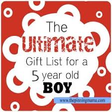 the ultimate list of gift ideas for a 5 year old boy the