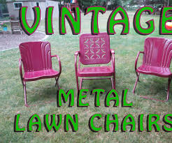 Old Fashioned Metal Outdoor Chairs by Rejuvenate Vintage Metal Lawn Chairs 12 Steps With Pictures