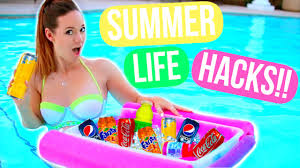 diy summer life hacks everyone must know alisha marie youtube