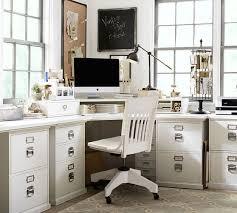 bedford smart technology corner desk hutch antique white