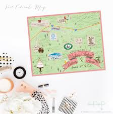 Northern Colorado Map by Custom Wedding Map Custom Vail Colorado Map Vail Co Wedding