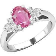 diamond pink rings images Pink sapphire diamond ring in 18ct white gold pdpk565w png