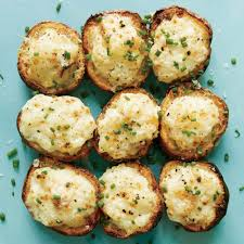 lemon caper parmesan potato salad bites recipe myrecipes