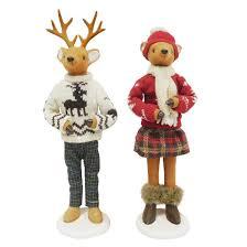 2pk deer and doe decorative figurines wondershop target