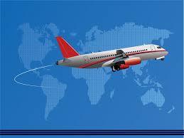 international air company ppt backgrounds transportation