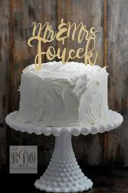 wedding cake name custom mr and mrs last name wedding cake topper available in