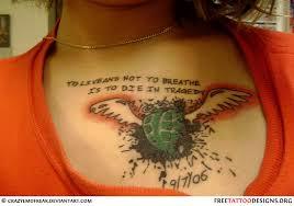 pin chest tattoos 1 on feminine chest