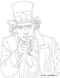 uncle sam coloring pages hellokids com
