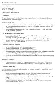 Inspector Resume Sample 8 Best Images Of Employee Housing Inspection Letter Employee