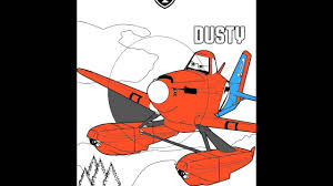 how to color dusty crophopper disney movie planes coloring pages
