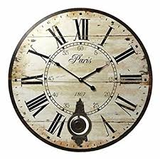 Large Shabby Chic Wall Clock by Belle Maison Large Shabby Chic Cream Pendulum Wall Clock Amazon