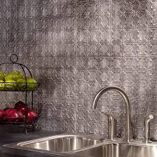 Fasade Kitchen Backsplash Fasade Backsplash Traditional 6 In Crosshatch Silver