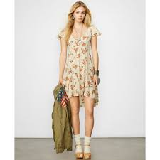 denim u0026 supply ralph lauren floral print high low dress lyst