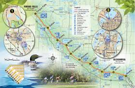Snowmobile Trail Maps Michigan by Trail Map Central Lakes Trail
