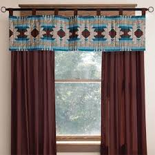Western Window Valance Wrangler Western Drapes With Coordinating Valance Cabin Place