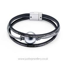 leather bracelet magnetic images Intrigue faux pearl leather bracelet with magnetic clasp jpg