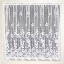White Lace Shower Curtain With Valance by Decorating White Lace Curtain Panels Lace Curtain Irish Swiss