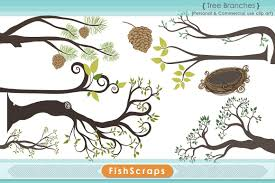 tree branch clip illustrations creative market