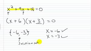 algebra i help solving quadratic equations by factoring part i
