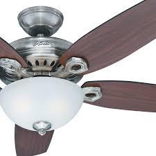 Hunter 54 Ceiling Fan by 54 U0026 034 Hunter Fan Brushed Nickel Ceiling Fan With Light Kit And