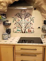 Kitchen Tile Murals Tile Art Backsplashes by The Olive Tree Of Jerusalem Ceramics Tile Mural Balian Studio