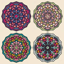 set of ethnic ornaments for design mandala vector circle orna