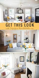 get this look contemporary farmhouse living room the fixer