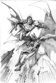 kevin nowlan old superman and batman commission