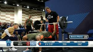 Nfl Combine Wr Bench Press Best Of Tight Ends Bench Press Nfl Videos