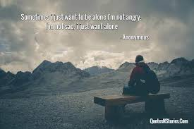 sometimes i just want to be alone i m not angry i m not sad i