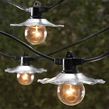 string lights with galvanized silver shades 35 ft length
