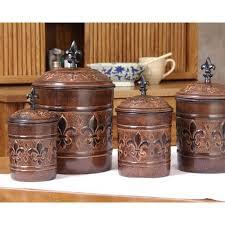 fleur de lis kitchen canisters versailles fleur de lis 4 canister set s restorers