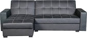 belize 2 piece storage futon with chaise black the brick