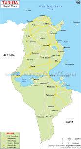 tunisia physical map tunisia road map road map of tunisia