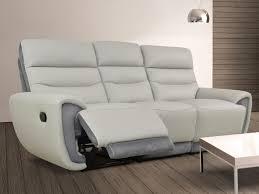 canap cuir gris clair canapé et fauteuil relax cuir noir ou gris clair cosmy