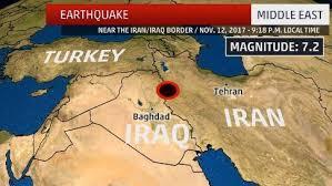 map iran iraq at least 6 dead after 7 2 magnitude earthquake strikes near iran