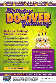 Pizza Buffet Las Vegas by Birthday Party A Bust John U0027s Incredible Pizza Company Gives You A