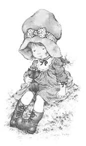 holly hobbie coloring pages 79 best coloriage sarah kay images on pinterest holly hobbie